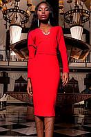Женское красное платье Хансити Jadone  42-48 размеры