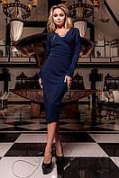 Женское темно-синее платье Хансити Jadone  42-48 размеры