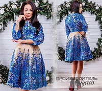 Платье ручной работы R-14584 электрик
