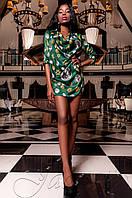 Женская блуза Сальвини изумруд ТМ Jadone  42-48 размеры