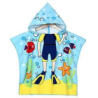 Мультфильм душа полотенец одежд ванной волокна полиэстера мальчиков закрытые мягкие дети пляжа одеял мочалки