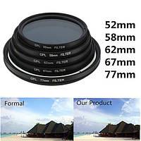 Фот 52mm-77mm цифровой тонкий проспект капрала polarizer поляризация линзы фильтрует капрала polarizer для канона nikon Sony