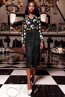 Женская черная блуза Сальвини ТМ Jadone  42-48 размеры