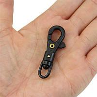 Мини-способная вращаться застежка вешает quickdraw наружный инструмент цепочки для ключей карабинера выживания
