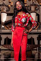 Женская красная блуза Сальвини ТМ Jadone  42-48 размеры