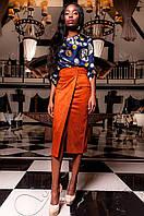 Женская темно-синяя блуза Сальвини ТМ Jadone  42-48 размеры