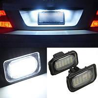 Пара 18 LED света пластины номера лицензии лампочки для benz c-класса