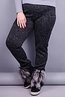 Баунти. Женские спортивные штаны супер батал. Черный. 58