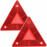 2шт треугольные боковые красные отражатели для автомобилей грузовик фургон Прицепы Прицепы грузовиком автобус