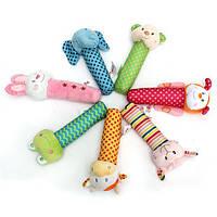 Животное развития мягкие чучела младенческой детские плюшевые игрушки ручной гремит колокольчик дети милый мультфильм