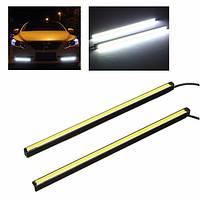 Пара 20CM COB LED DRL Дневной ходовой свет Авто Полоса противотуманного света хвост Лампа