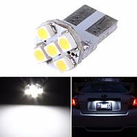 T10 Белый 5-SMD 168 194 3528 LED Лампы для Авто Лицензия Пластина Свет