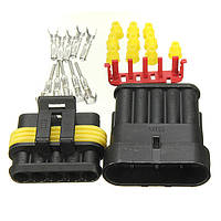 5 контакты способ герметичная влагозащищенная электрический провод зажигания авто разъем набор