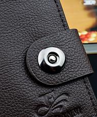 Стильный мужской кошелек коричневый, фото 3