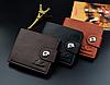 Стильный мужской кошелек коричневый, фото 6