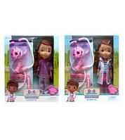 Кукла  Doc MC Stuffins  A278  2 вида, с наб.доктора(шприц, стетоскоп, планшет),  в коробке