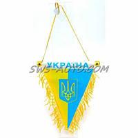 """Сувенир на присоске """"Вымпел"""" большой (флаг Украины с гербом)"""