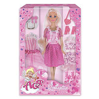 Набор с куклой Асей 'Романтический стиль'; 28  см.; блондинка; вариант 1