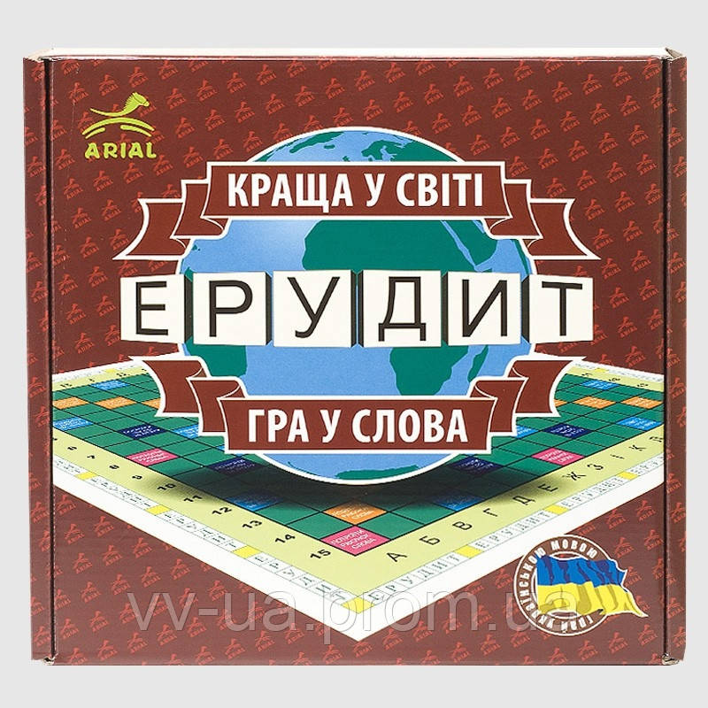 Игра настольная ARIAL Эрудит (украинская версия) (4820059910107)