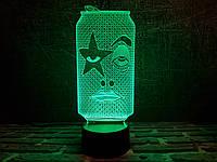 "3D лампа ""Рок Бир"" 3DTOYSLAMP, фото 1"