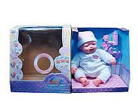 Кукла пупс 5232 Дочки-Матери на батарейках хохочет, плачет,  говорит,  смеется, двигает лицом, с бутылочкой
