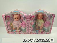 Кукла пупс 14-003AB(810881) 2 вида звук пьет писает горшок, подгузник бутылочка пустышка телефон коробке 36*18*336