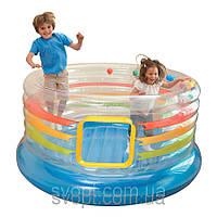 Детский круглый надувной игровой центр (182х86см.)  48264 Intex
