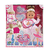 Говорящая кукла BAMBOLINA MOLLY - БАЛЕРИНА (озвуч. укр. яз., с музыкой, 40 см, с аксессуарами), фото 1