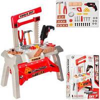 Детский игровой набор инструментов T106-2 (верстак, дрель, молоток, плоскогубцы, пила) Royaltoys