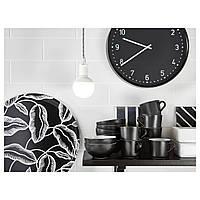 IKEA БУНДИС Настенные часы, черный : 70152467, 701.524.67