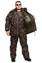 Зимний костюм для рыбаков и охотников Темный лес  (до - 30) р-ры 46-66