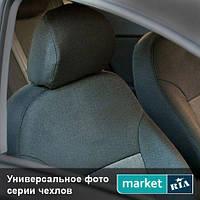 Чехлы для Ford Transit, Черный + Серый цвет, Автоткань