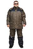 Зимний термокостюм для рыбалки и охоты  БУРАН 8 хаки THERMOTEX (до-30) р-ры 46-66, фото 2