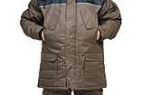 Зимний термокостюм для рыбалки и охоты  БУРАН 8 хаки THERMOTEX (до-30) р-ры 46-66, фото 3