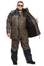 Зимний термокостюм для рыбалки и охоты  БУРАН 8 хаки THERMOTEX (до-30) р-ры 46-66