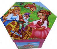 """Набор для детского творчества """"Девушки и гном"""" (46 предметов) шестигранный"""