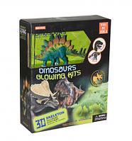 Динозавр стегозавр (фигурка + скелет-конструктор)