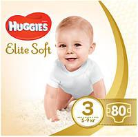 Подгузники Huggies Elite Soft  3 (80шт.) 5-9 (Хаггис Элит Софт)
