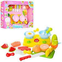 Продукты 666S-17-18, на липучке, плита, посуда, досточка, стол.приборы, 2 вида, в коробке, 41-29-7 см