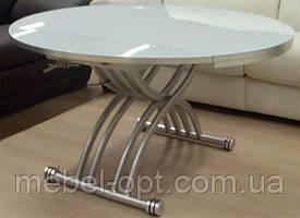 Стол-трансформер B-2252, круглый раскладной стол, высота регулируется от 33 до 75см