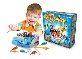 Детская настольная игра Акуломания Fish Torrible, игра на реакцию