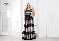 Вечернее платье в пол с кружевом, фото 1