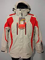 Горнолыжная куртка мужская Snow Headquarter A-035 c Omni-Heat серо-красная