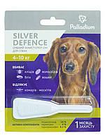 Капли на холку Silver Defence от паразитов для собак весом от 4 до 10кг