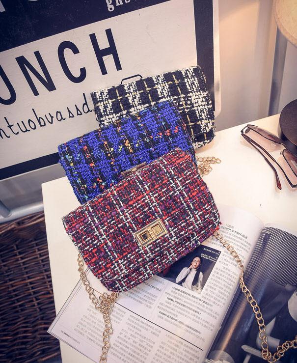 Твидовая вязанная Fashion сумка сундучок, фото 1
