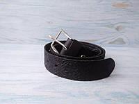 Мужской кожаный ремень черныйв этно стиле