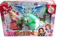 PULL LINE FLYING HORSE/ Лялька в шоубоксі з коником 23х15х6