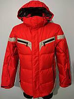 Пуховик мужской Snow Headquarter красно-серый