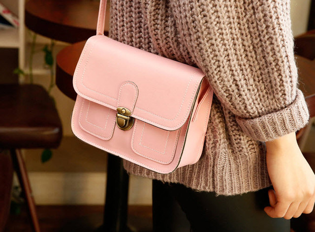 Жіноча сумка листоноша-скринька на защіпку, фото 1