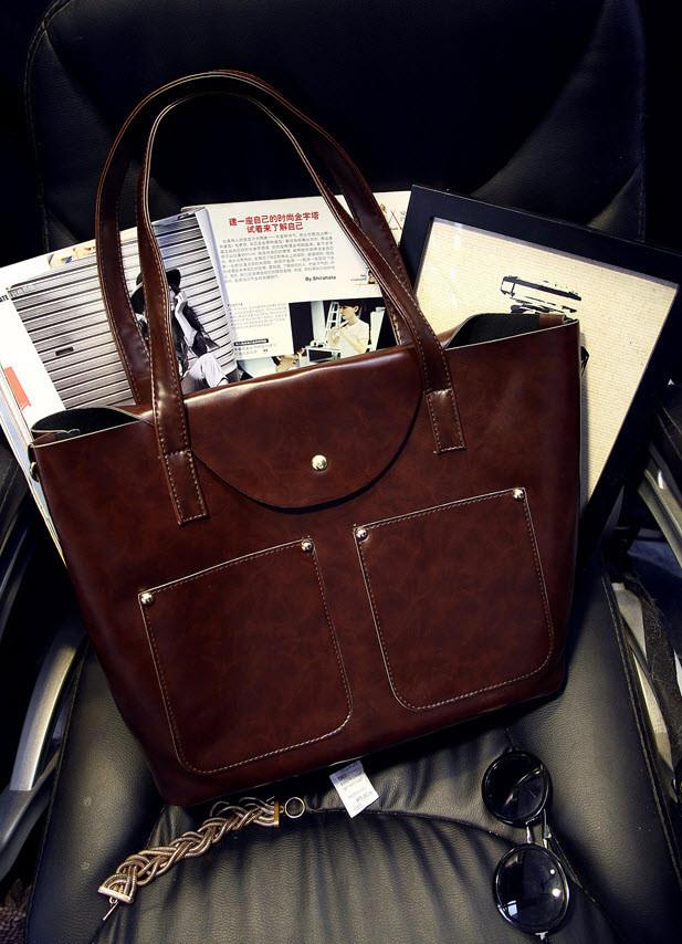 Большая вместительная сумка+клатч, набор, фото 1